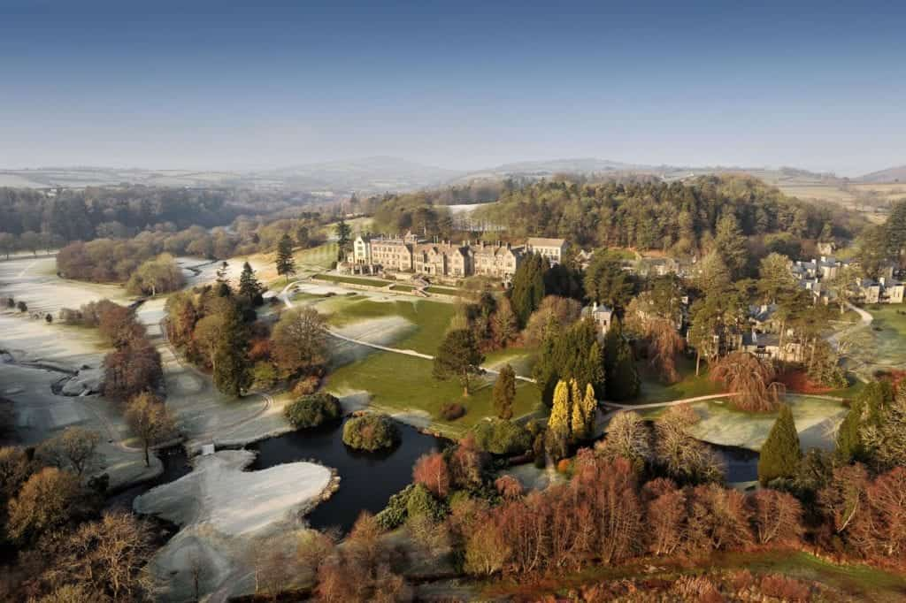 Aerial photo of a manor - Hospitality Photographic