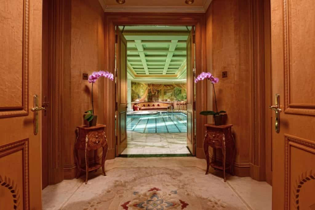 Interior photo with view of a pool - Hospitality Photographic