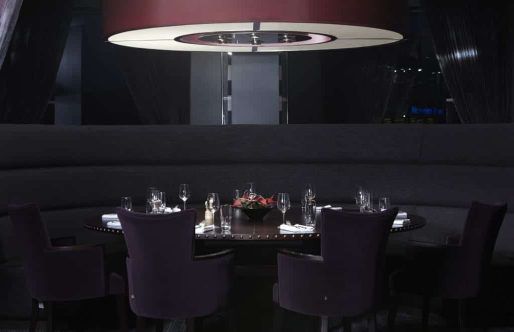 Interior photo of a set table - Hospitality Photographic