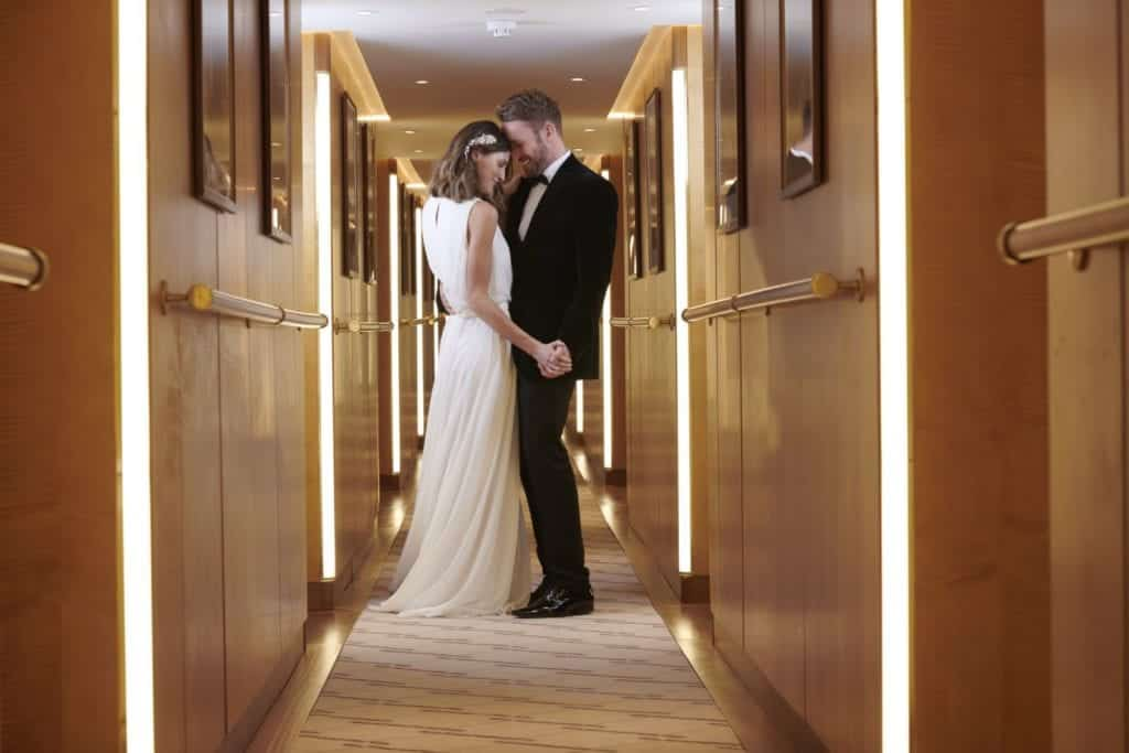 Image of a couple in a hallway - Hospitality Photographic