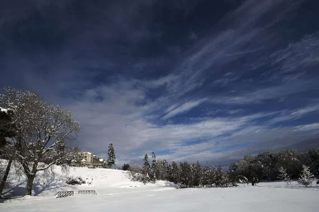 Exterior photo of a snowscape- Hospitality Photographic