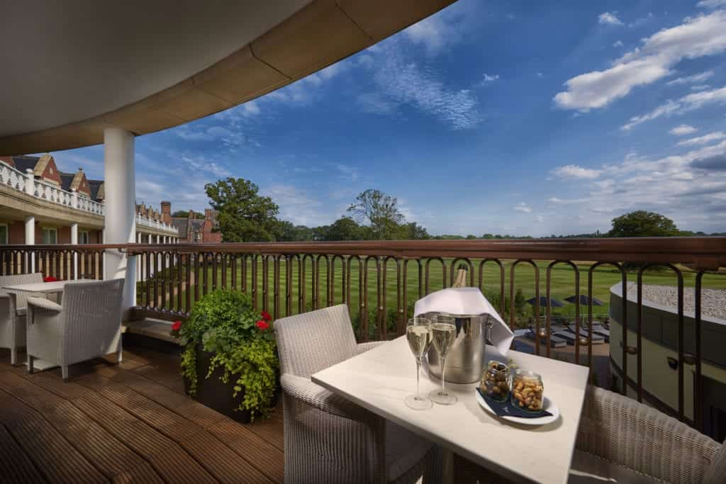 Exterior photo with a view of the field - Hospitality Photographic