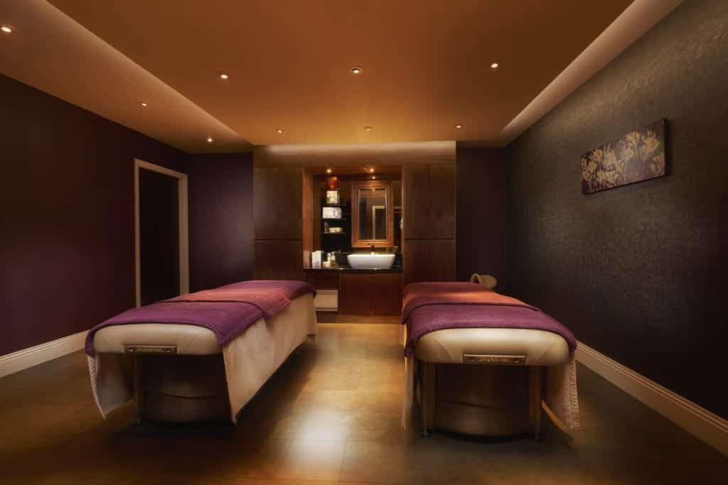 Spa photography of two massage beds - Hospitality Photographic