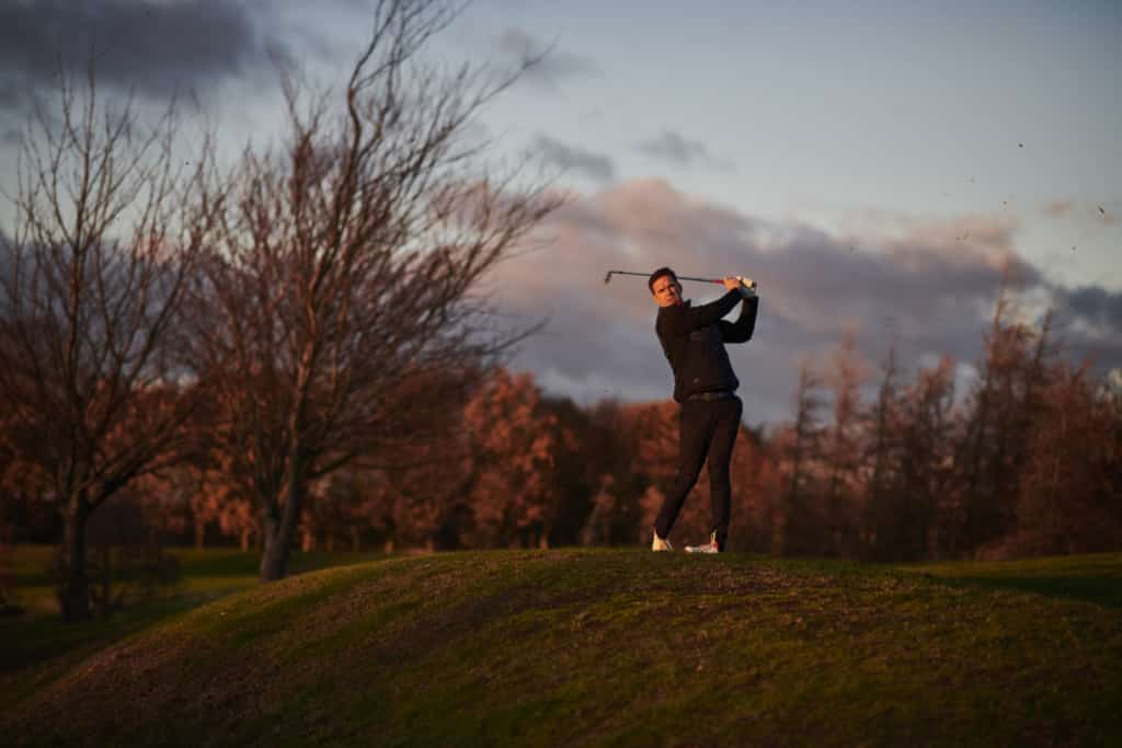 Portraiture photo of a man playing golf - Hospitality Photographic