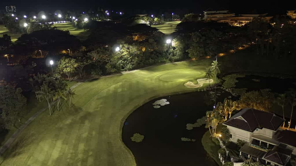 Aerial photo of a gold course - Hospitality Photographic