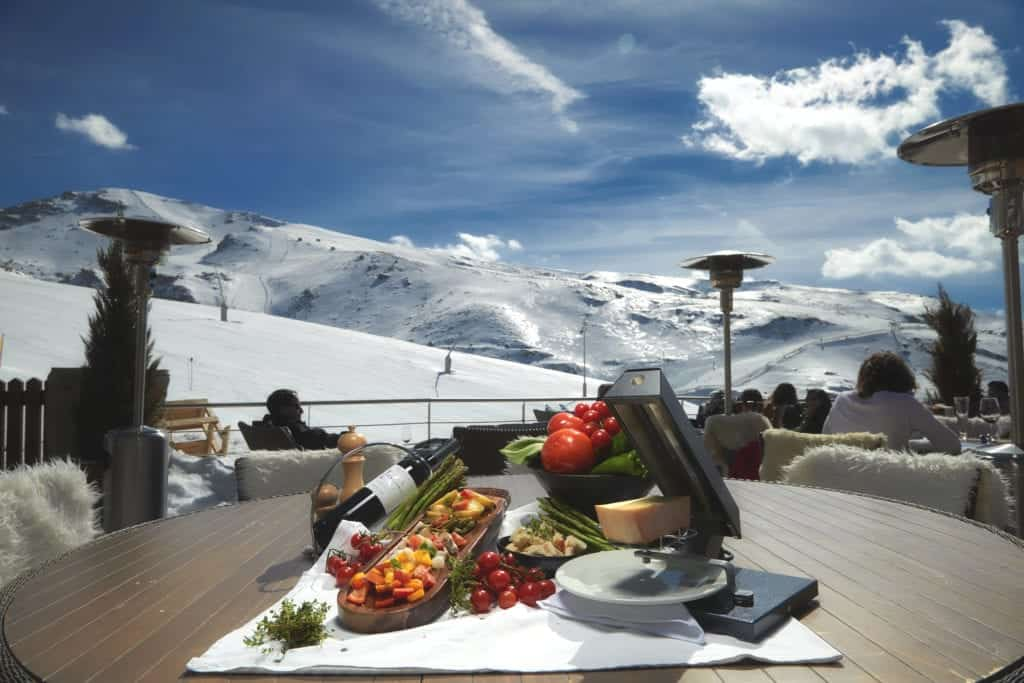 Exterior photo with snowscape background- Hospitality Photographic