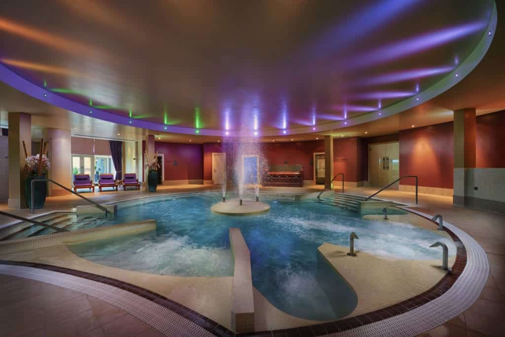 Spa photography of an indoor pool - Hospitality Photographic