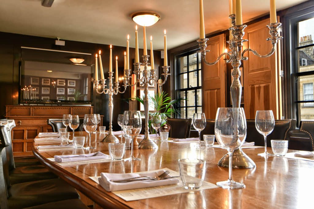 Interior photo of a dining table - Hospitality Photographic