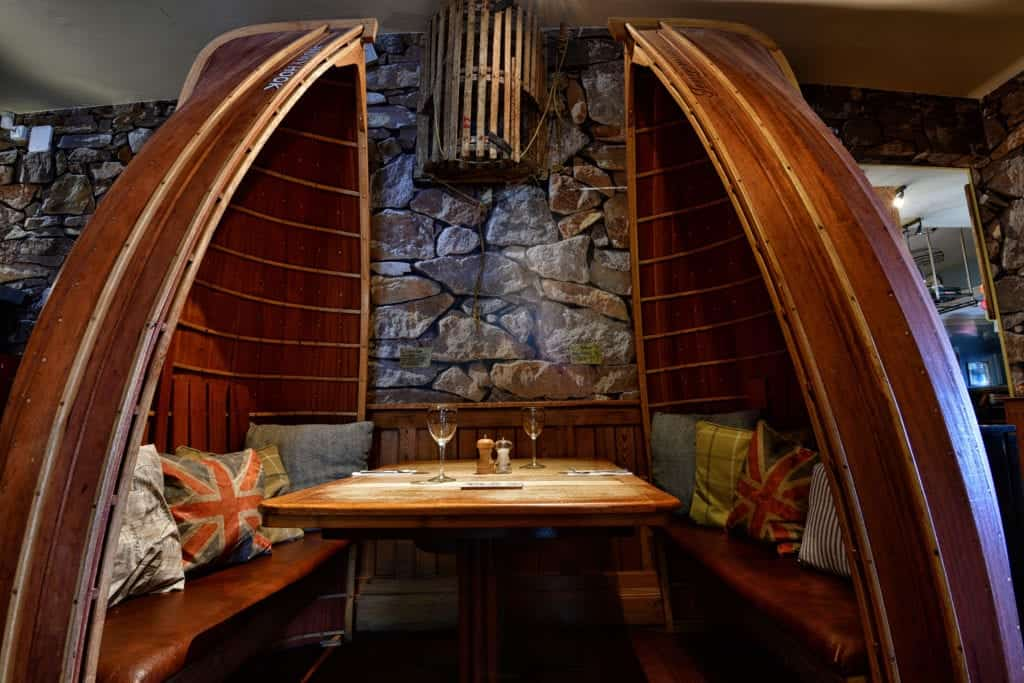 Interior photo of a dining seating area - Hospitality Photographic