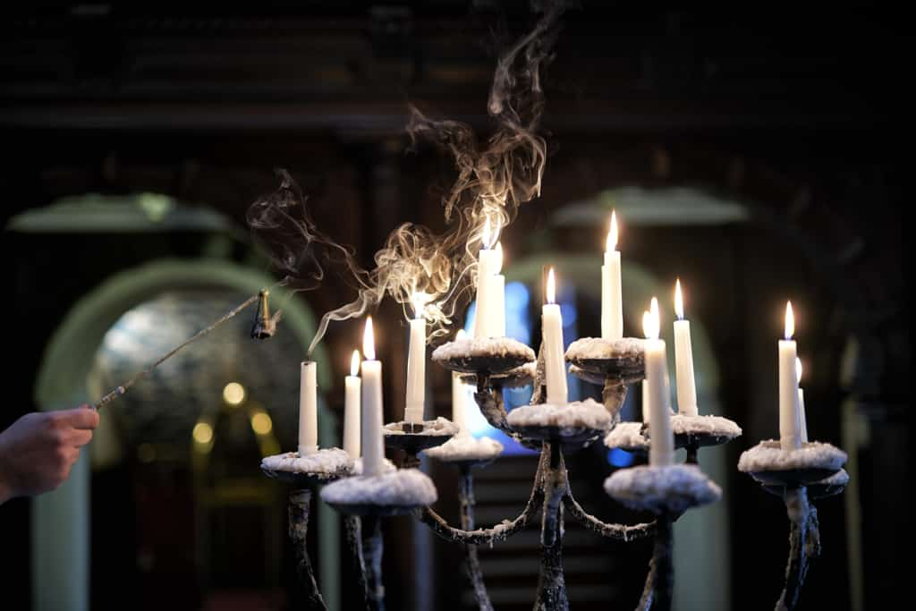 Wall Art of candle stick holders - Hospitality Photographic