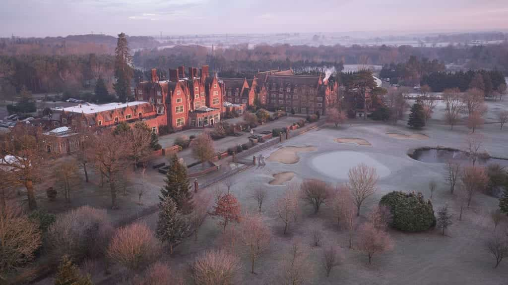 Aerial photo of Duston Hall - Hospitality Photographic