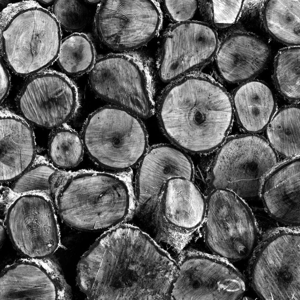 Black and White Wall Art of logs - Hospitality Photographic