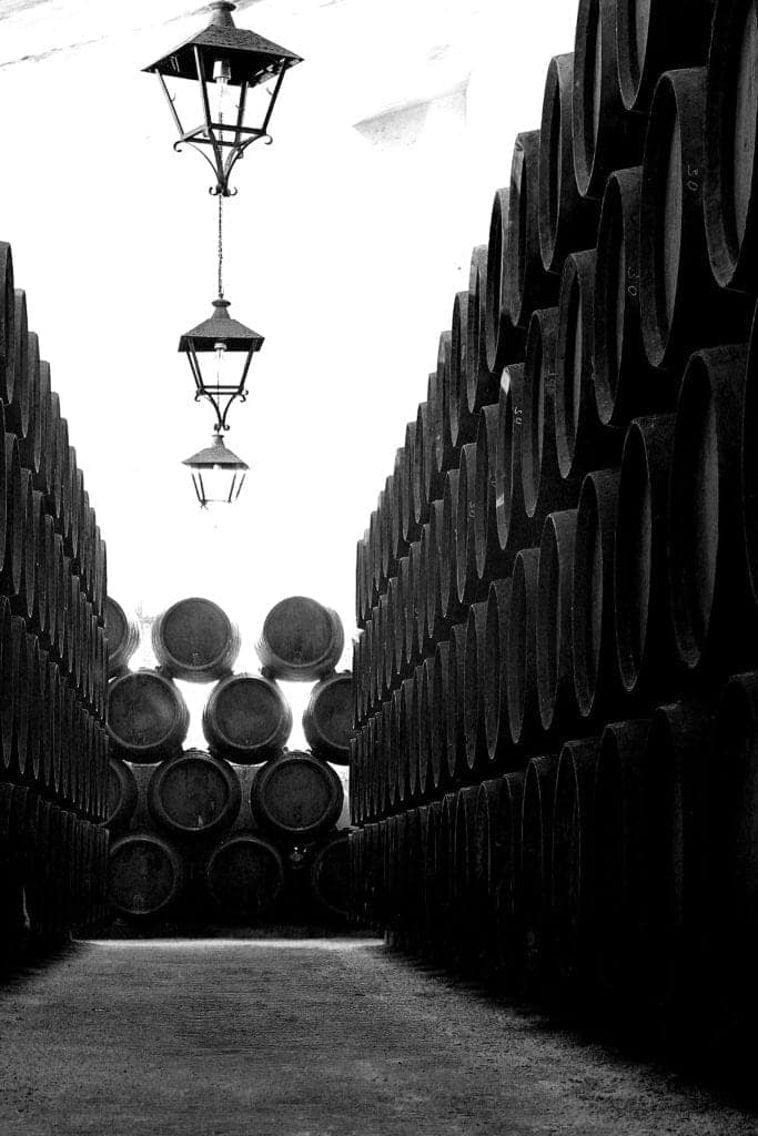 Black and white Drink photo of barrels - Hospitality Photographic